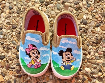 Minnie and mickey disney baby shoes