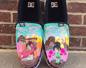 Disney wreck it Ralph Vanellope painted shoes