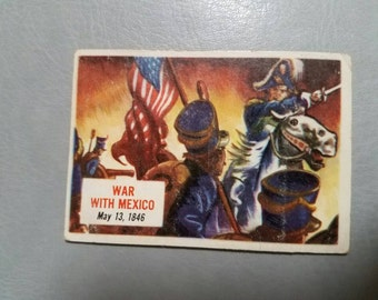 1954 Topps Scoops History Card 78- War With Mexico