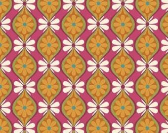 """Riley Blake designs -   """"Botanique"""" Stripe in Multi  Cotton Fabric"""