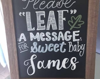 Table top chalkboard sign