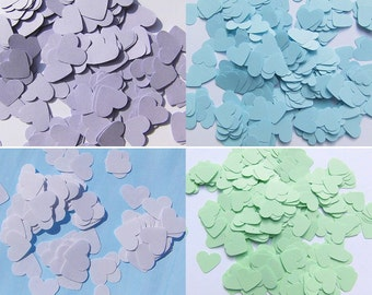Confetti Heart Confetti White wedding confetti decoration Confetti Hearts Blue Hearts paper Confetti lilac wedding Confetti Hearts White