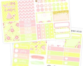 glitter melon mini kit ( planner stickers )