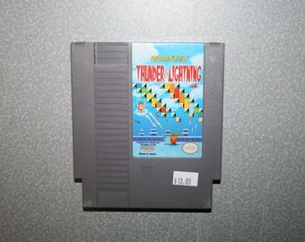 Thunder & Lightning Nintendo NES Video Game Free Shipping