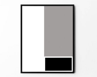 Minimalist Art, Modern Wall Art, Geometric Art, Geometric Print, Black and White Art, Printable Art, Modern Art, Geometric Modern, Abstract