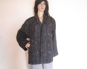 Vintage 80s wool jacket wool jacket jacket oversize