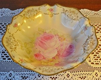 RS Germany Porcelain Bowl, Antique Serving Bowl