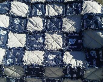 Dallas Cowboys ragged blanket