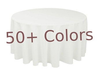 "96"" Round Table Cloth,linen Tablecloth,Black Tablecloths,White Tablecloths,Party Tablecloth,Customized Tablecloths,wedding tablecloth"