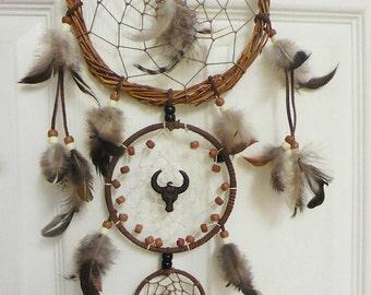 Cow Skull Dreamcatcher - Woodland Witch - Tribal - Boho