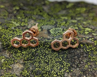 Honeycomb Stud Earrings.