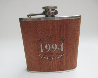 Flask. Made In 1994 Aged to Perfection
