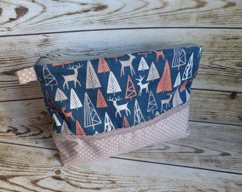Make-up bag bag deer deer forest petrol