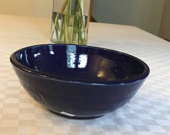 Small Serving Bowl: cobalt blue glaze