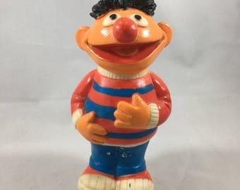 Vintage 1979 Sesame Street Ernie Rubber/Plastic Toy