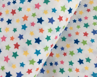 Multicolor Stars Cotton Fabric from the Basic Brights Collection by Windham Fabrics
