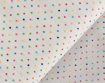 "End of Bolt, Multicolor Small Dot Cotton Fabric from the Basic Brights Collection by Windham Fabrics 15""x44"""