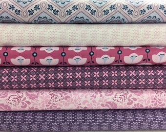Bundle of 6 Fabrics form the Sew It-Quilt It-Love It Collection by Amy Hamberlin for Henry Glass Fabrics, Choose Your Cut