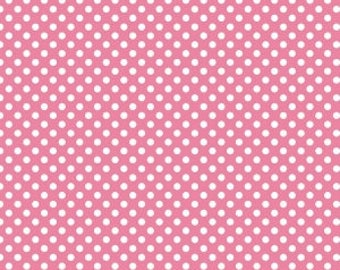 Small Dots in Hot Pink from Riley Blake, Cotton Fabric, Choose the Cut, C350-70 HOT PINK