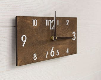 Clock Wall Decor rustic wall clock | etsy