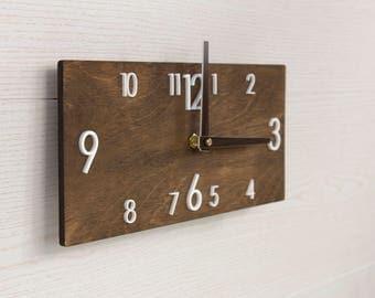 modern wall clock wooden wall clock wall clock wood rustic wall clock