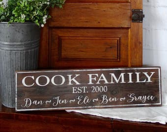 Custom Family Wood Sign, Family Name Wood Sign, Established Wood Sign, Custom Farmhouse wood sign, Farm Sign