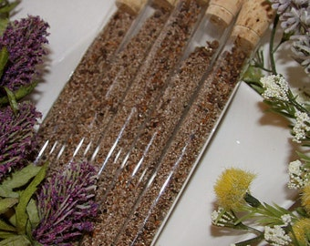 50 Test Tubes w/ Wild Flower Seeds   - Wedding / Party / Shower Favors