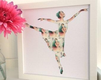 Ballerina Gift - Ballet Gift - Vintage Ballerina - Gift for Dancer - Ballet Dancer - Ballet Picture - Ballerina Art - Girls Bedroom Decor