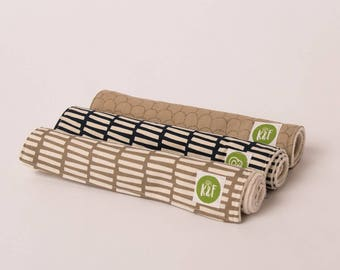 Nuetral Burp Cloths with Organic Sherpa