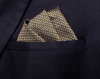 Brown Handkerchief, Dark Pocket Square, Man Fashion Design, Cotton Pocket Square, Brown Hanky, Birthday Party Gift, Father Of The Bride Gift