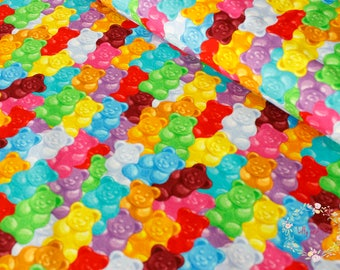 Rainbow colour jelly bears jersey fabric One unit is 0.5 metre