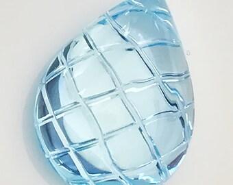 13.50ct Custom Cut Topaz - Sky Blue Water drop - Gorgeous gem