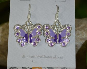 This purple butterfly earring's say spring!