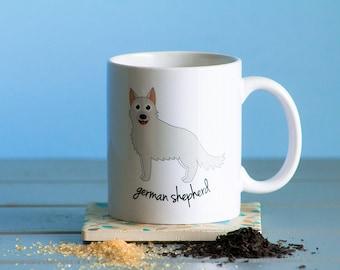 German Shepherd Mug (white)