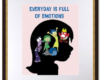 Pixar's Inside Out-Minimalist-Everyday Is Full Of Emotions-Digital Print