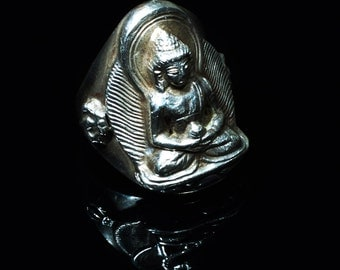 Silver Ring with Buddha