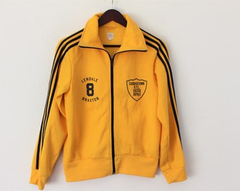 ADIDAS Track Jacket Yellow Adidas Jogging Jacket Running Parka Hipster Adidas Old School Adidas Three Stripes  Medium to Large