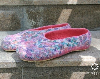 100% Merino Wool Handmade Felted Slippers