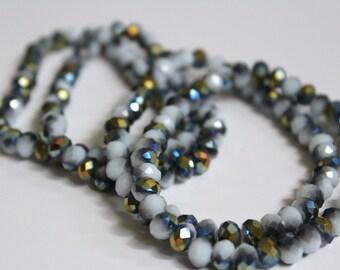 Sparkly Metalic and White bracelet
