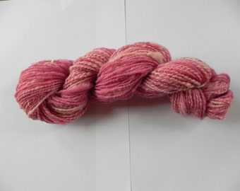 Handdyed handspun 2-ply wool yarn