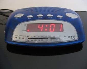 Timex AM/FM Nature Sound Alarm Clock Radio - Blue