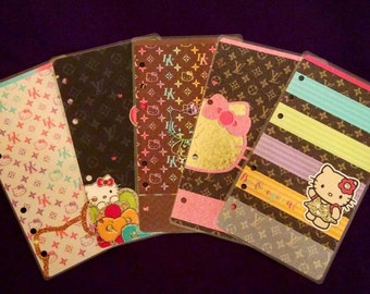 LV, Louis Vuitton Planner Dashboard/ A5/ Personal/ Planner Dashboard / Planner Accessories / Planner inserts / Filofax / Planners