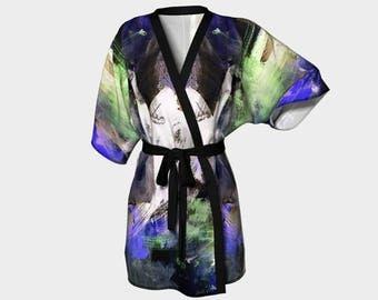 Robe, House Coat, Women's Fashion, Abstract Art, Original Art Titled Roncy Robe