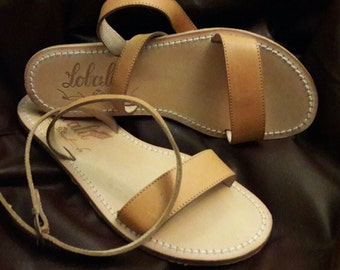 Hand-made leather sandals