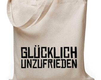 Happily unhappy - jute bag