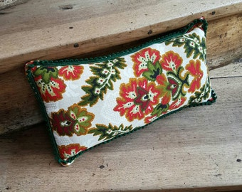 Vintage floral fabric neck cushion