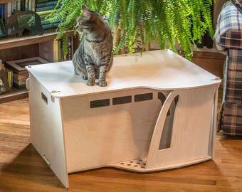 Adobe Style Kitty House, Litter Box