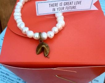 Fortune Cookie Beaded Bracelet