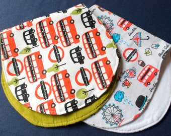 Peanut Burp Cloth London- Flannel/Flannel