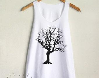 Tree Tank Top Branch Tree Shirt Nature Women Tank Clothing